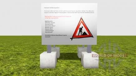 Esgrima obras de construção de v1.2 para Farming Simulator 2015