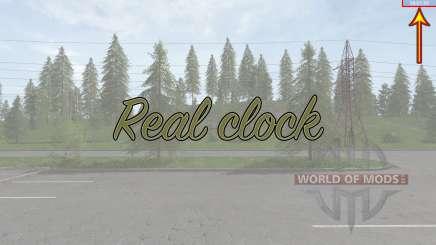 Real clock para Farming Simulator 2017