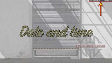 Date and time v2.0 para Farming Simulator 2017