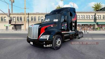 Pele M.&.Um Camionagem v1.1 no trator Peterbilt 579 para American Truck Simulator