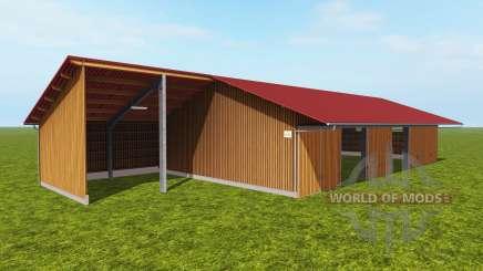 Galpão para armazenamento de cavacos de madeira para Farming Simulator 2017