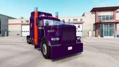 Roxo Laranja da pele para o caminhão Peterbilt 389 para American Truck Simulator