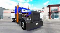 Pele Cinza Laranja v2.0 trator Peterbilt 389 para American Truck Simulator