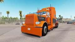 A pele de Laranja Cinza para o caminhão Peterbil