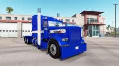 Pele Rígido Azul v2.0 trator Peterbilt 389 para American Truck Simulator