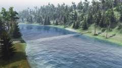Vazão do rio para Spin Tires