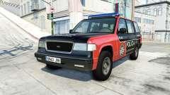 Gavril Roamer spanish police v3.6 para BeamNG Drive
