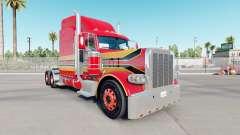 A pele do Bebê de Vermelha no caminhão Peterbilt