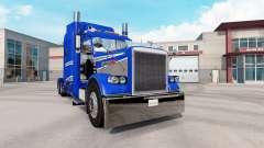 A pele Azul E Cinza Metalizado no caminhão Peter