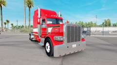 Dragão vermelho de pele para o caminhão Peterbil
