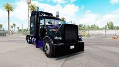 A pele de Preto E Roxo Peterbilt 389 trator para American Truck Simulator