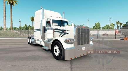 Pele Preto Forro no caminhão Peterbilt 389 para American Truck Simulator
