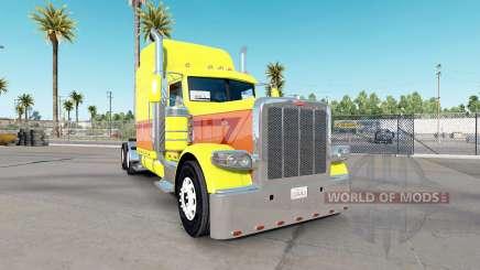 Pele Amarela Explosão no caminhão Peterbilt 389 para American Truck Simulator
