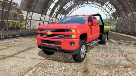 Chevrolet Silverado 3500 HD Crew Cab flatbed para Farming Simulator 2017