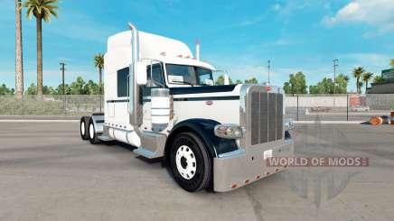 A pele de Preto E Branco para o caminhão Peterbilt 389 para American Truck Simulator