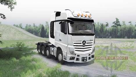 Mercedes-Benz Actros (MP4) 8x8 para Spin Tires