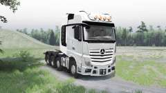 Mercedes-Benz Actros (MP4) 8x8 para Spin Tires