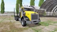 Kenworth T800B logging truck para Farming Simulator 2017