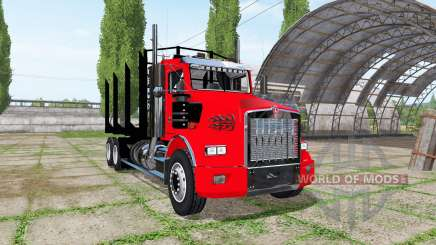 Kenworth T800 log truck para Farming Simulator 2017