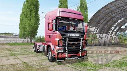Scania R730 hooklift v1.0.3 para Farming Simulator 2017