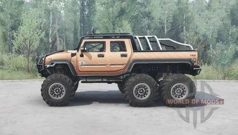 Hummer H2 SUT 6x6 para Spintires MudRunner