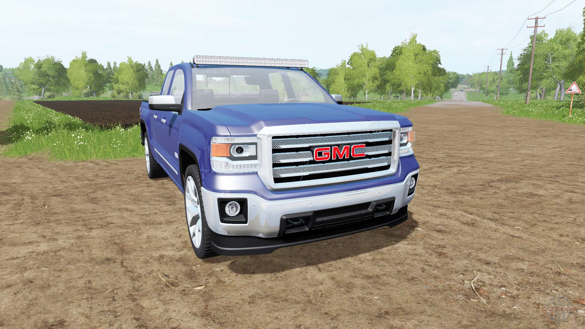 gmc sierra 1500 double cab gmtk2 para farming simulator 2017. Black Bedroom Furniture Sets. Home Design Ideas