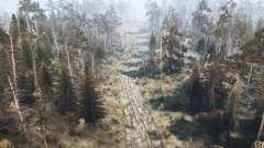 Floresta do jogo 2 - Outono de corte para MudRunner