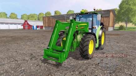 John Deere 6110 RC front loader para Farming Simulator 2015