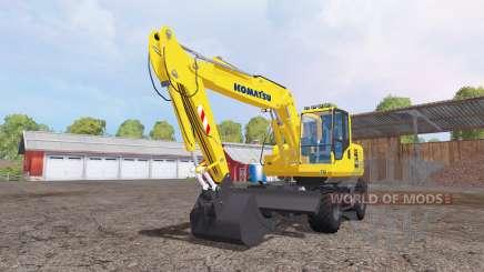 Komatsu PW160-7 para Farming Simulator 2015
