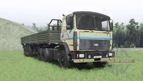 MAZ 6317 v2.3 para Spin Tires
