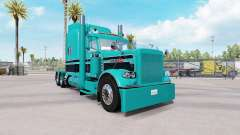 Скин Turquesa, Preto combo на Peterbilt 389 para American Truck Simulator