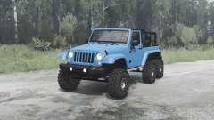 Jeep Wrangler (JK) 6x6 crawler para MudRunner