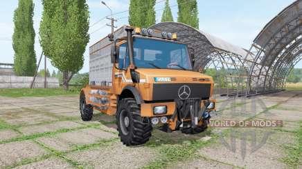 Mercedes-Benz Unimog U1600 cattle transport para Farming Simulator 2017