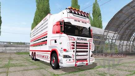 Scania R730 cattle transport v2.2 para Farming Simulator 2017