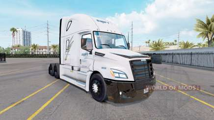 Pele Swift no trator Freightliner Cascadia para American Truck Simulator