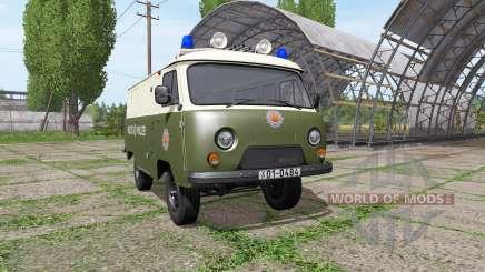 UAZ 3741 polícia do GDR para Farming Simulator 2017