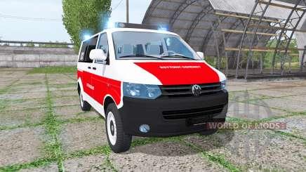 Volkswagen Transporter (T5) rettungsdienst para Farming Simulator 2017