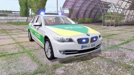 BMW 530d Touring (F11) polizei bayern para Farming Simulator 2017