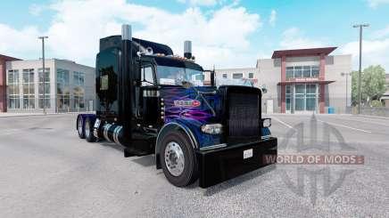 Pele Roxo-cor-de-rosa chama para o caminhão Peterbilt 389 para American Truck Simulator