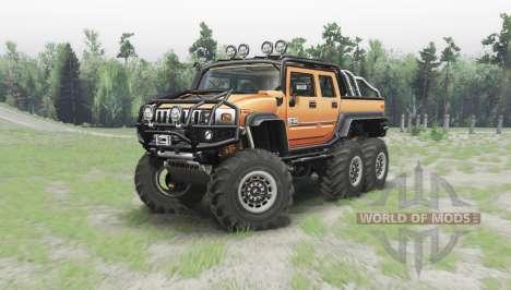 Hummer H2 6x6 para Spin Tires