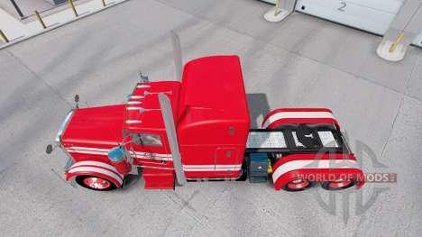 Pele Vermelha no Rolê de Transporte Peterbilt 379 trator para American Truck Simulator