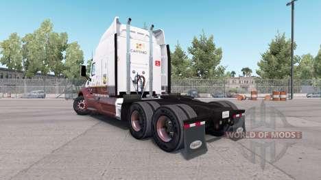 Caffenio pele para o caminhão Peterbilt 579 para American Truck Simulator