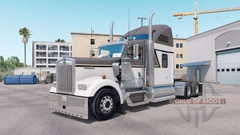 Pele Mestre de Cinza no caminhão Kenworth W900 para American Truck Simulator