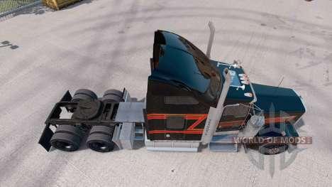 Pele Preto Grande no caminhão Kenworth W900 para American Truck Simulator