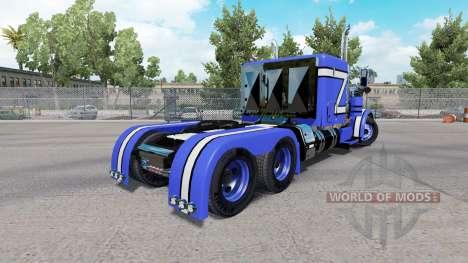 Pele Azul Rollin no caminhão Peterbilt 379 para American Truck Simulator