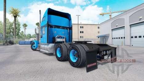 Pele Azul Preto para trator caminhão Kenworth W900 para American Truck Simulator