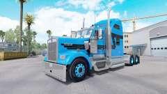 Pele Azul Preto para trator caminhão Kenworth W9
