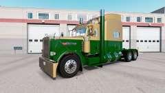Pele Escura Ouro Verde no caminhão Peterbilt 389