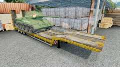Semitrailer with cargo T-34-85
