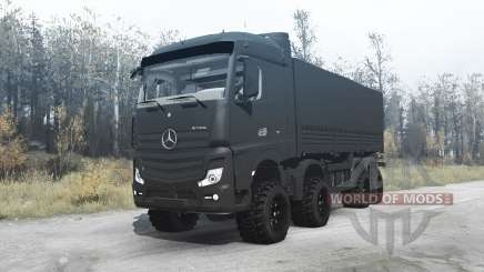 Mercedes-Benz Actros (MP4) chassis 8x8 para MudRunner